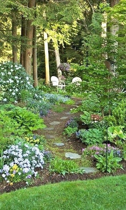 shade garden ideas shade garden ideas shade garden ideas ontario #flagstonepathway