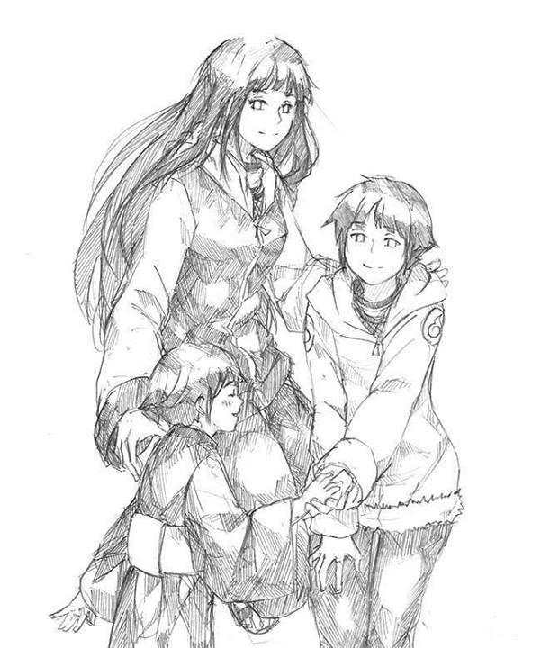 Naruto Shippuden  Fanart  Hinata Hyuuga Pencil Sketch  hinata