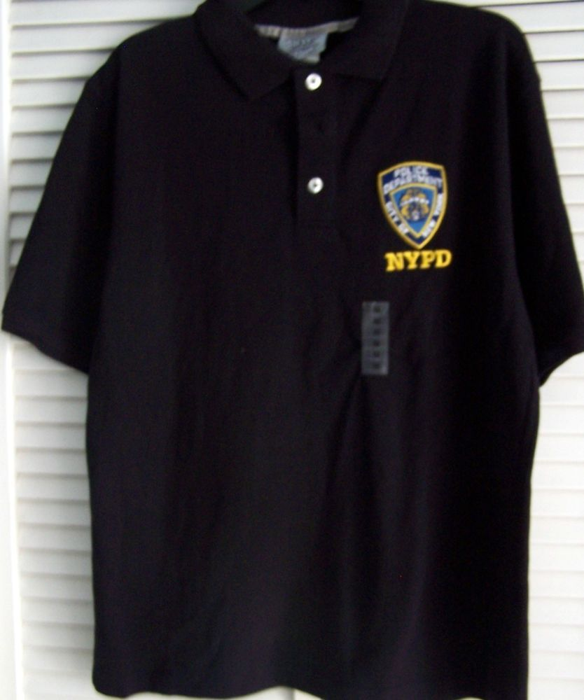 46e70f94f Official Licensed New York Police Department Men's Polo Shirt, Navy Blue M  NWT #NYC