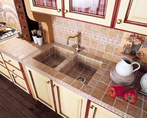 Tarja Azulejos Diseno De Cocina Rustica Decoracion De Cocina Cocina De Concreto