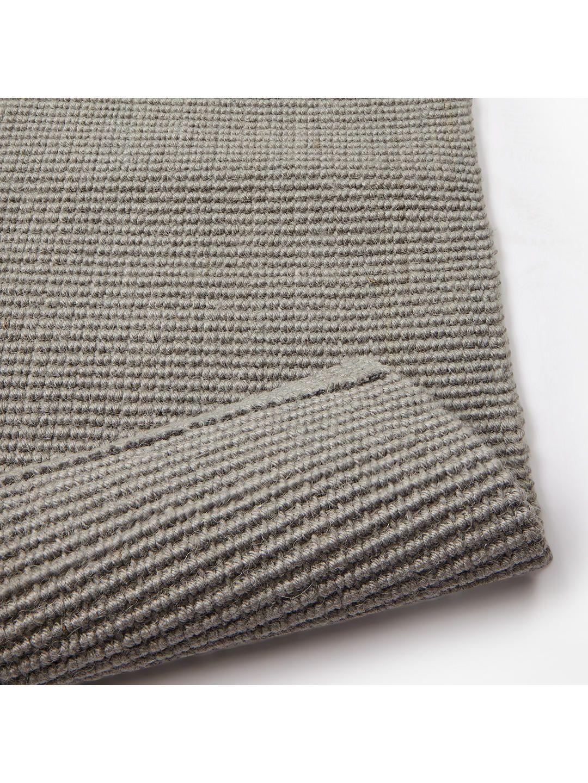 John Lewis Partners Jute Boucle Rug Grey William Mews