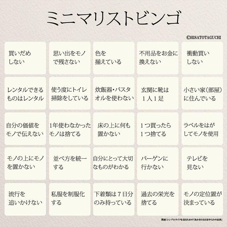 いいね 355件 コメント10件 Yumekanauさん Yumekanau2 のinstagramアカウント ミニマリストビンゴ いくつビンゴになりましたか ミニマリストビンゴ ビンゴ シンプルライフ シンプリストのすすめ シンプリスト インスピレーションのある言葉