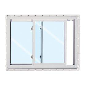 Reliabilt 36 In X 36 In Vinyl Low E Argon Horizontal Slider Window Horizontal Windows For New Living Room On Each Side O Sliding Windows Slider Window Windows