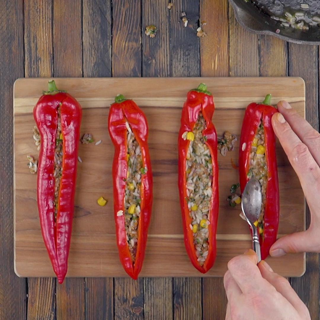 Neue Rezepte für gefüllte Paprika #ofengerichteschnell
