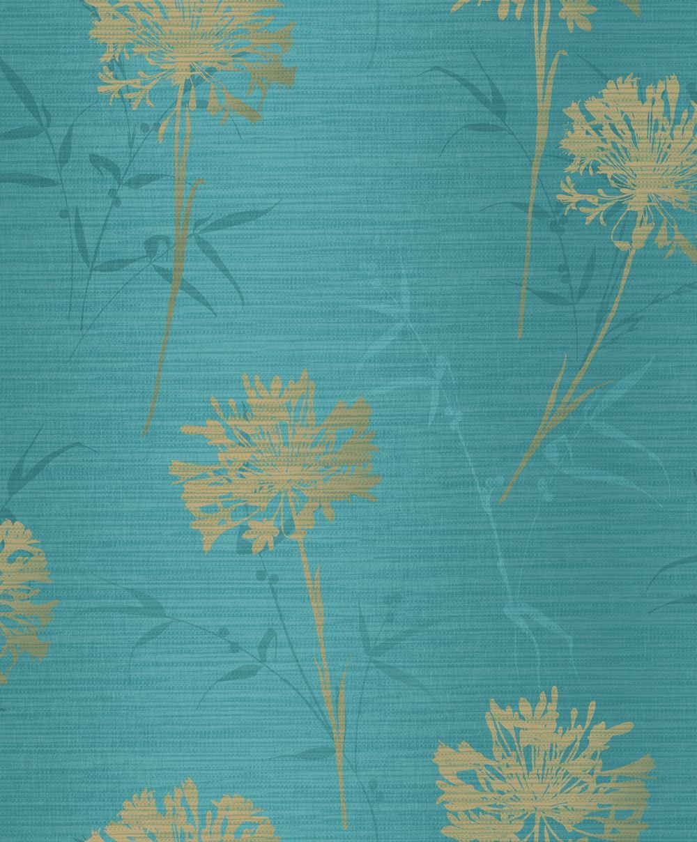 Kimora by Arthouse Teal / Gold Wallpaper 293002 in