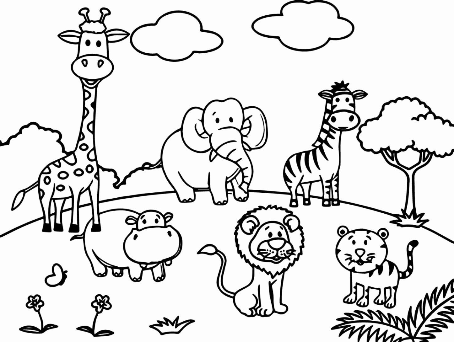 Zoo Animals Coloring Book Pdf New Coloring Ideas Impressiveoring
