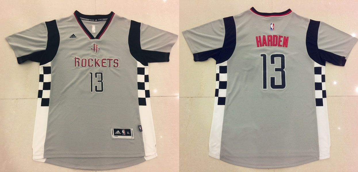 buy online ff05b 2d151 Houston Rockets #13 Harden Grey Men 2017 New Logo NBA Adidas ...