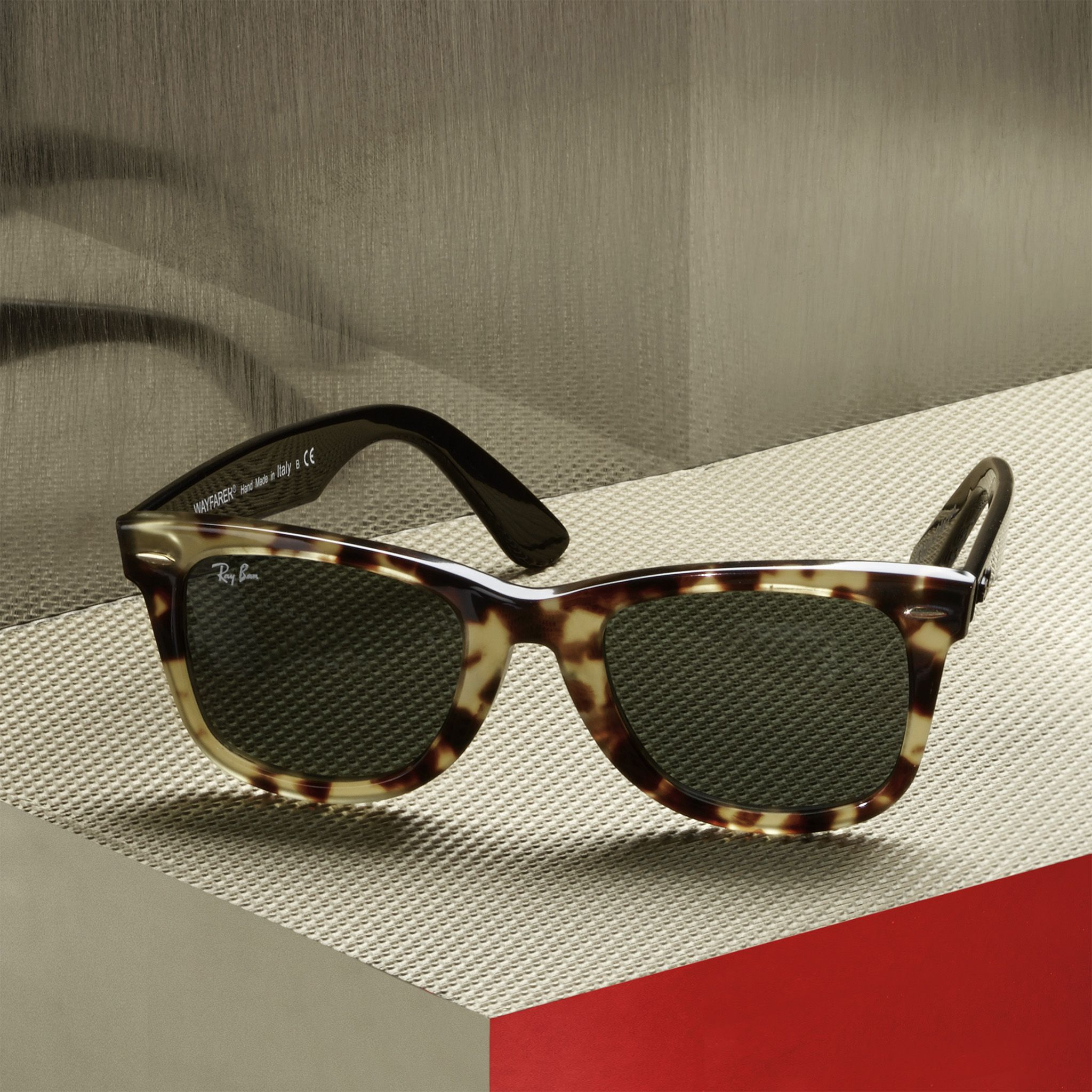 The classic # Wayfarer in shiny black, mixed with exclusive ...