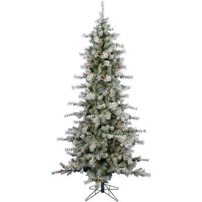 The Holiday Aisle Buffalo Slim Snow/Green Fir Trees Artificial