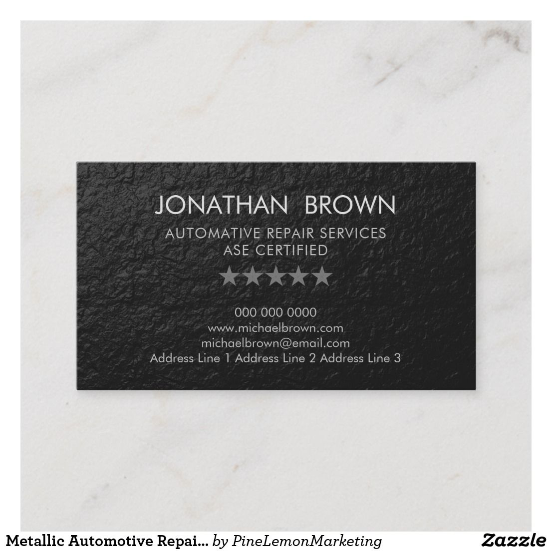 Metallic Business Card Zazzle Com Elegant Business Cards Business Cards Cards