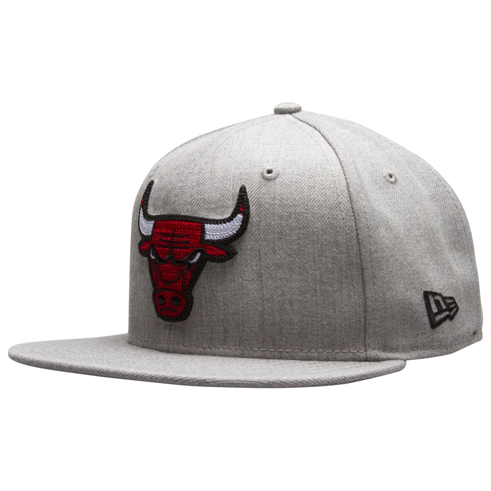 size 40 175bd 00601 Chicago Bulls Heather Grey Cross-Stitch Bull Logo Fitted Flat Bill Hat by New  Era  Chicago  Bulls  ChicagoBulls