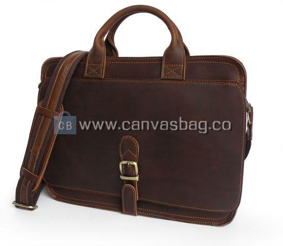Leather Computer Bags Laptop Mens Messenger