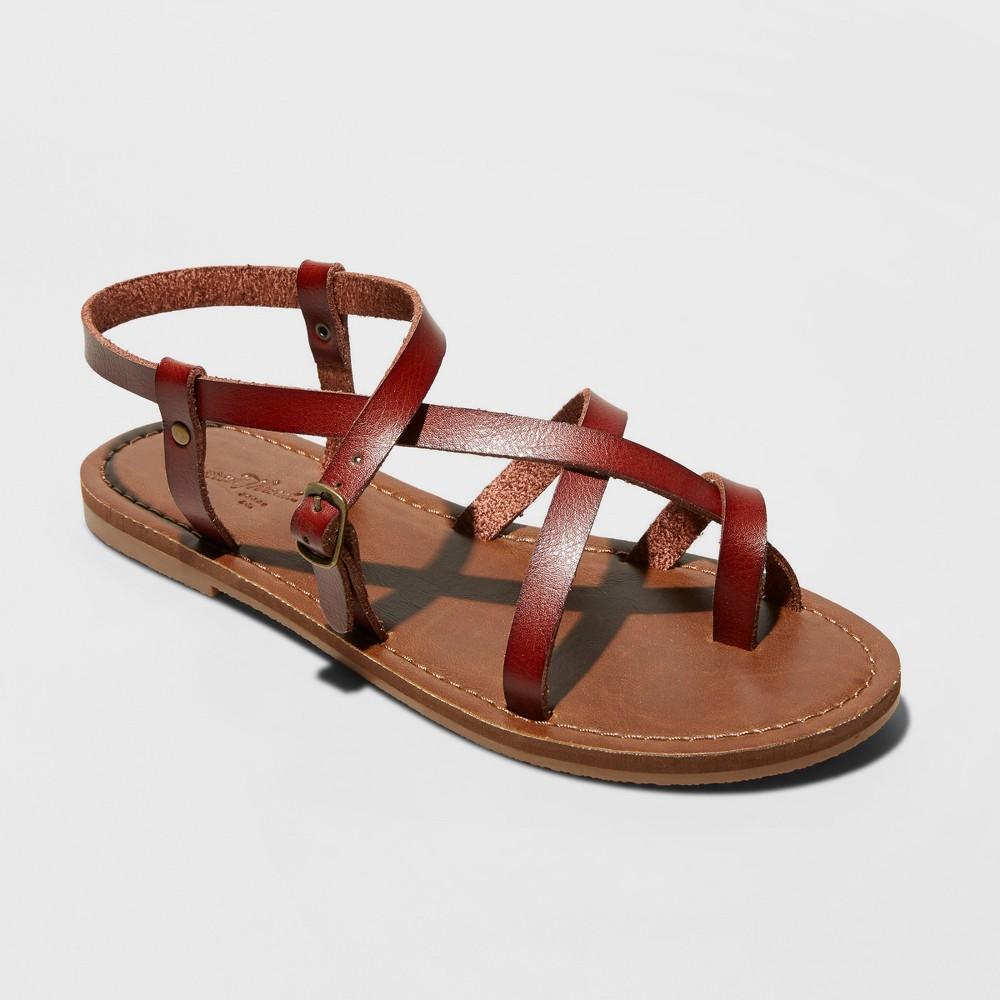 57c3cf9a7370 Women s Lavinia Toe Wrap Wide Width Thong Sandal - Universal Thread Brown  ...