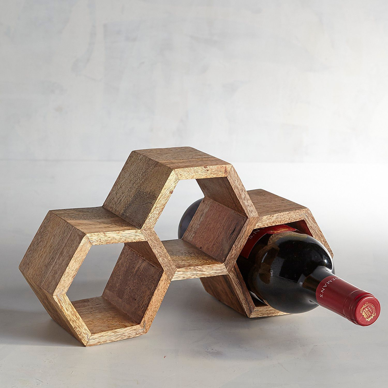 Fabriquer Casier À Bouteilles En Bois honeycomb stackable wine rack | objets à fabriquer, bois et