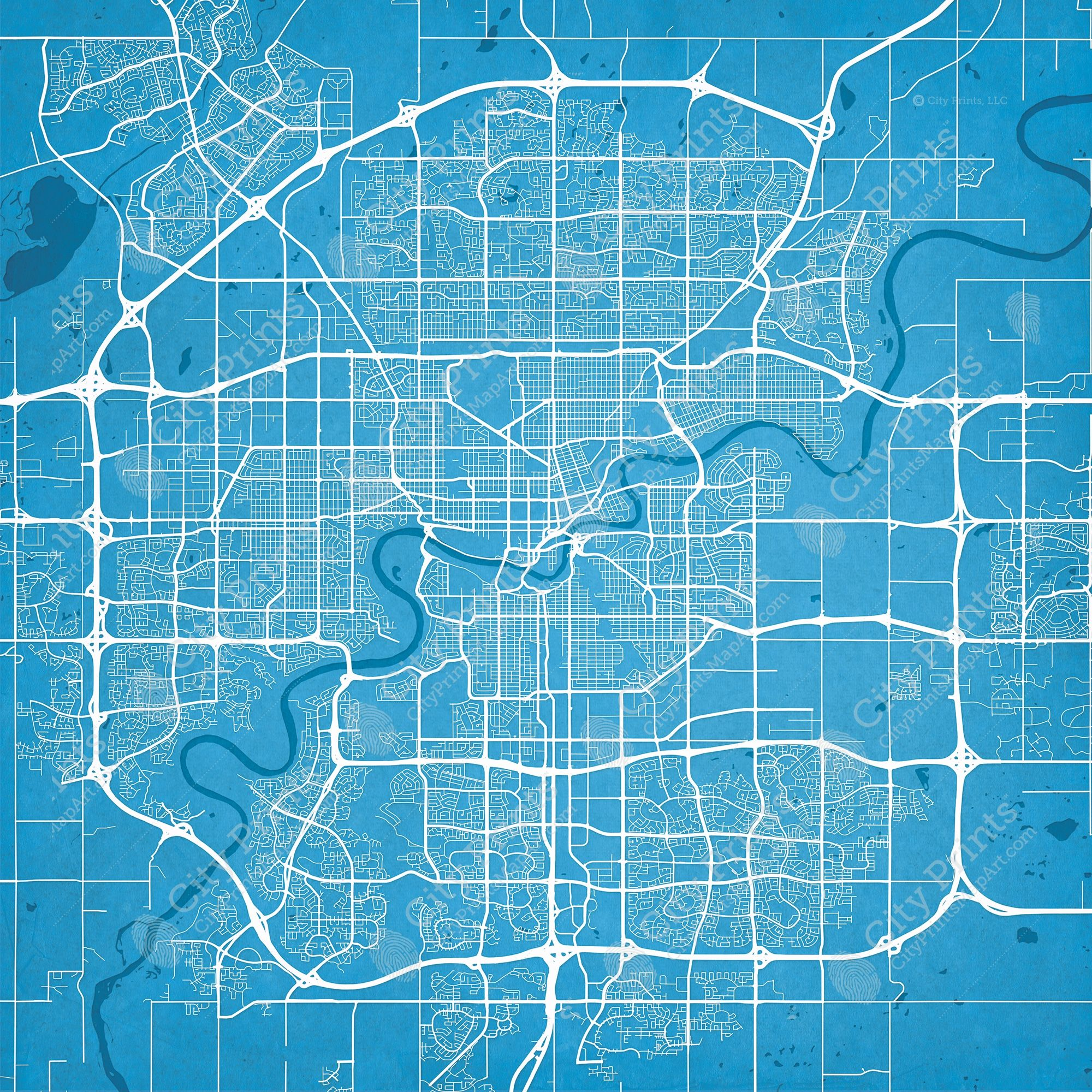 Edmonton canada map art edmonton canada map art city prints gumiabroncs Choice Image