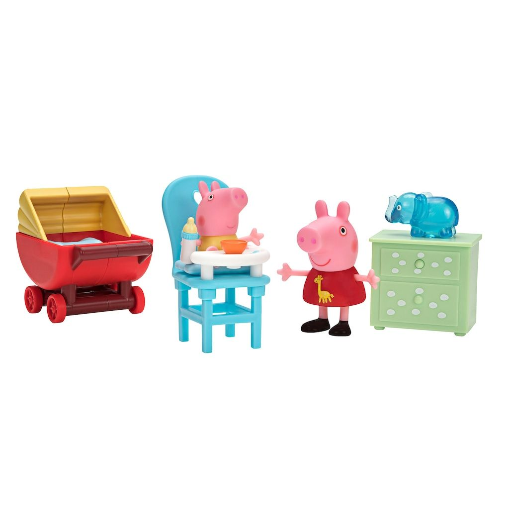 Peppa Pig Little Rooms Peppa And Baby Alexander Peppa Pig Toys Peppa Pig Baby Peppa Pig [ 1024 x 1024 Pixel ]