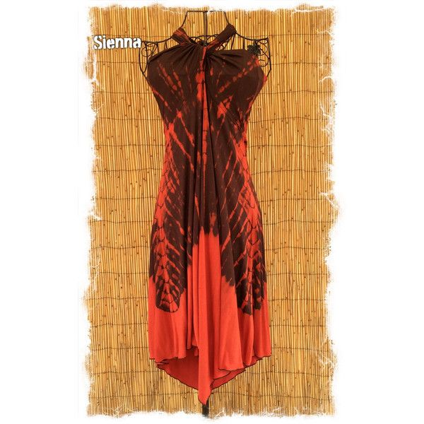 BatikPalace Tango Batik Tie-Dye skirt/halter Midlength Dress ($38) ❤ liked on Polyvore featuring black, skirts and women's clothing