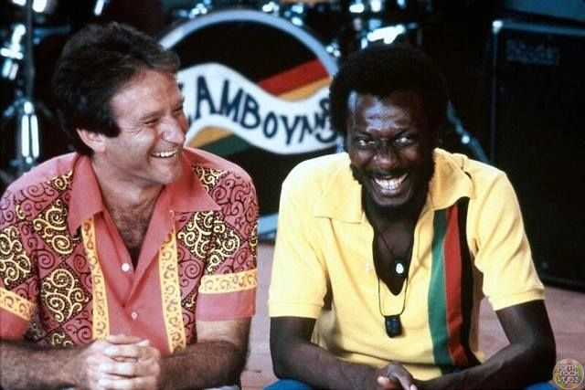 Beautiful Moments: the late great Robin Williams with legend Jimmy Cliff.
