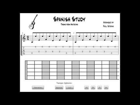 Spanish Classical Guitar Lesson Spanish Study Guitar Lessons
