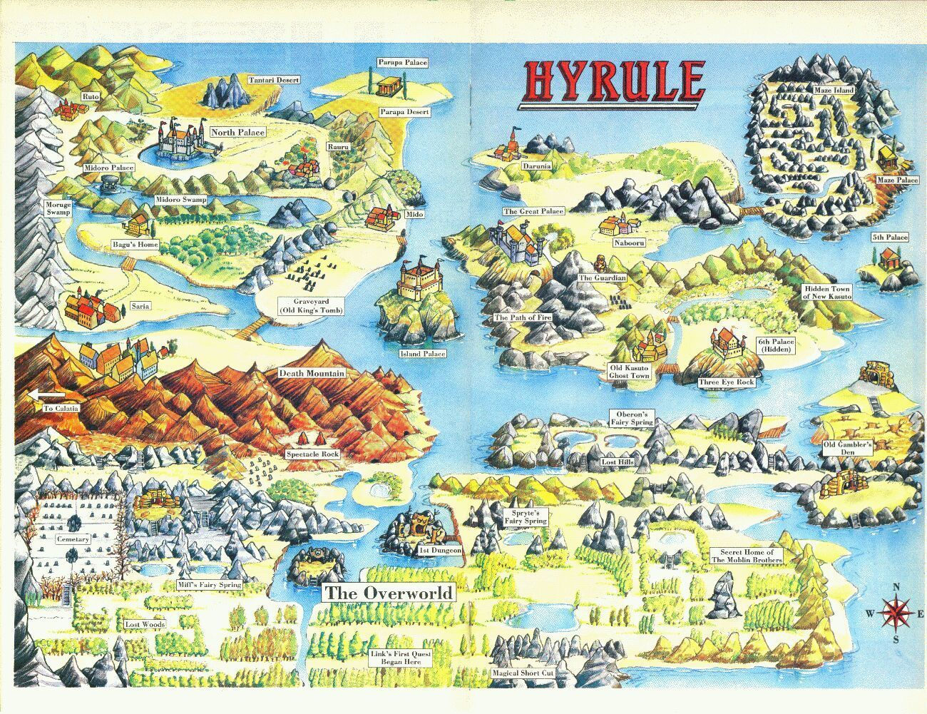 Hyrule Map Zelda Map Map Legend Of Zelda