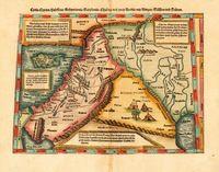 Средиземноморское Побережье Аравии Красоты Карта Мира Урожай Классический Ретро…