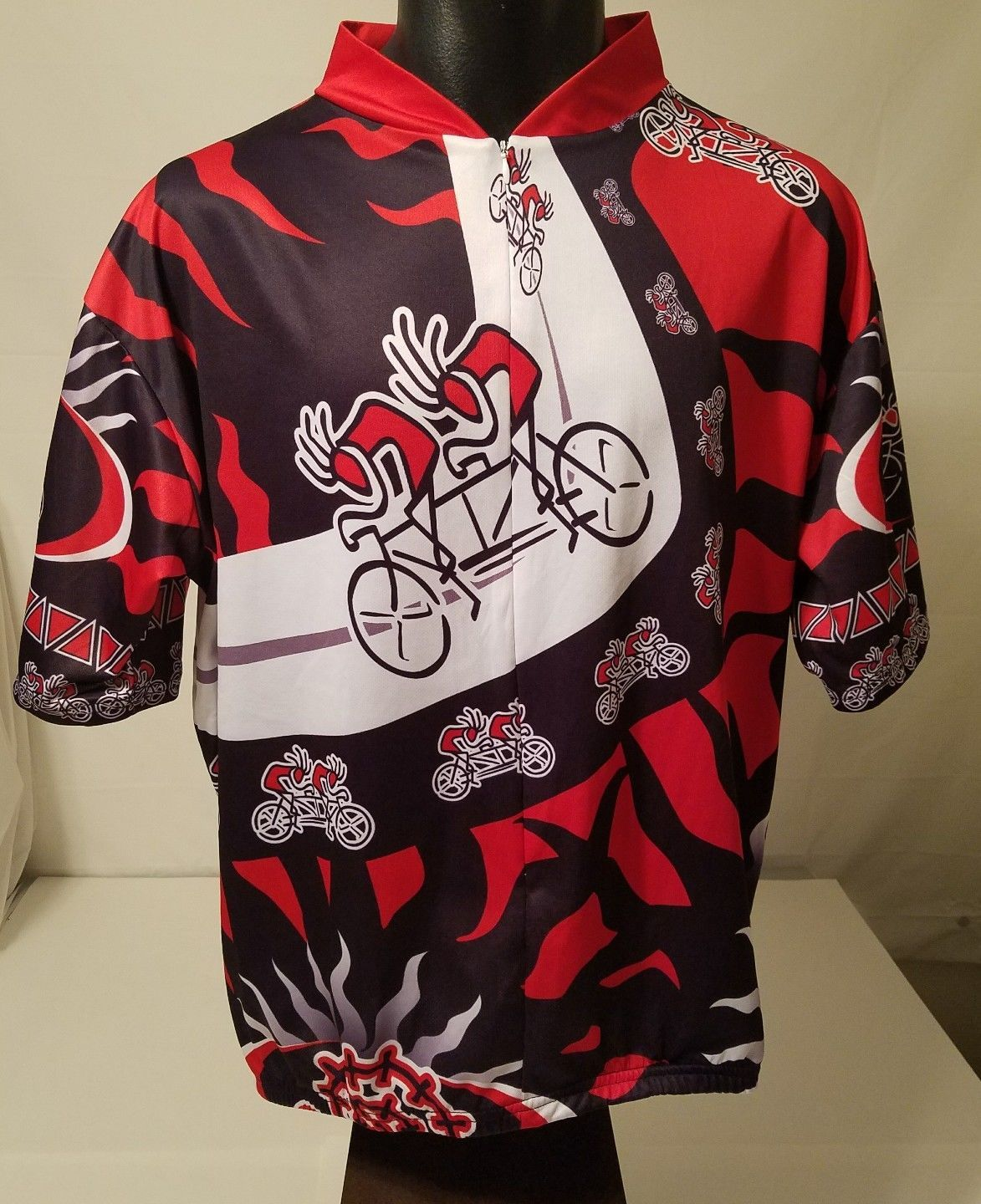 Kucharik Clothing Bike Cycling Bicycle Jersey Shirt Mens Size 4XL Red Black
