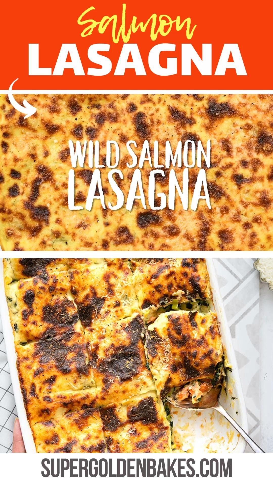 Salmon Lasagna Supergolden Bakes Video Salmon Lasagna Salmon Recipes Seafood Recipes
