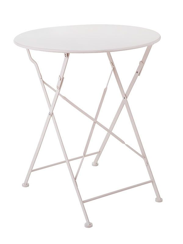 Tavolo in Ferro Bianco Bistrot Fiorirà Un Giardino | Coquelicot Design Tavolo realizzato in ferro. Decorato color bianco.  Adatto per interno ed esterno.