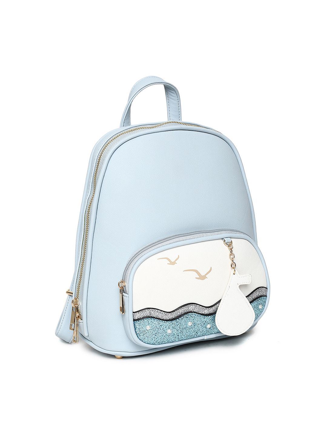 1e7fe9d184 Buy Ginger By Lifestyle Women Blue Graphic Backpack - - Accessories for  Women from Ginger By Lifestyle at Rs. 2199