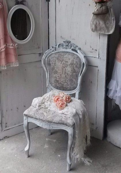 vintage st hle stuhl shabby chic ein designerst ck von krewa bei dawanda m bel pinterest. Black Bedroom Furniture Sets. Home Design Ideas
