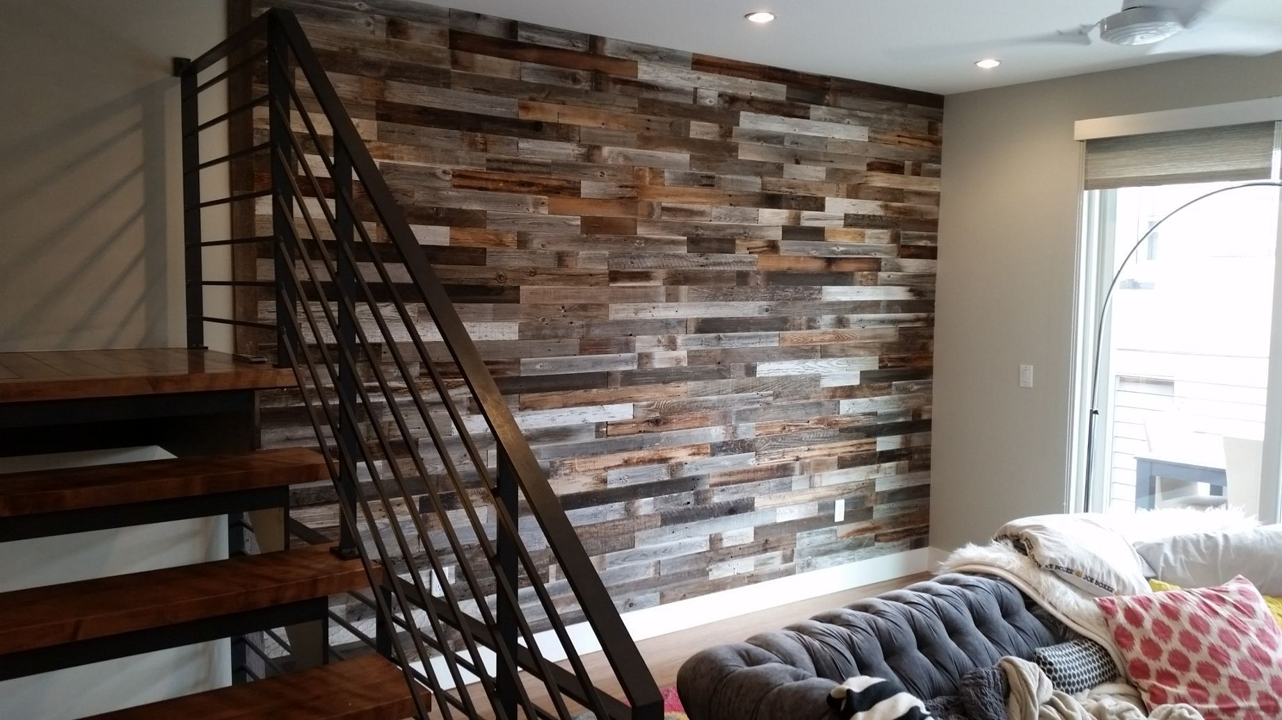 Reclaimed Wood Wall Paneling DIY assorted 3-inch boards ...