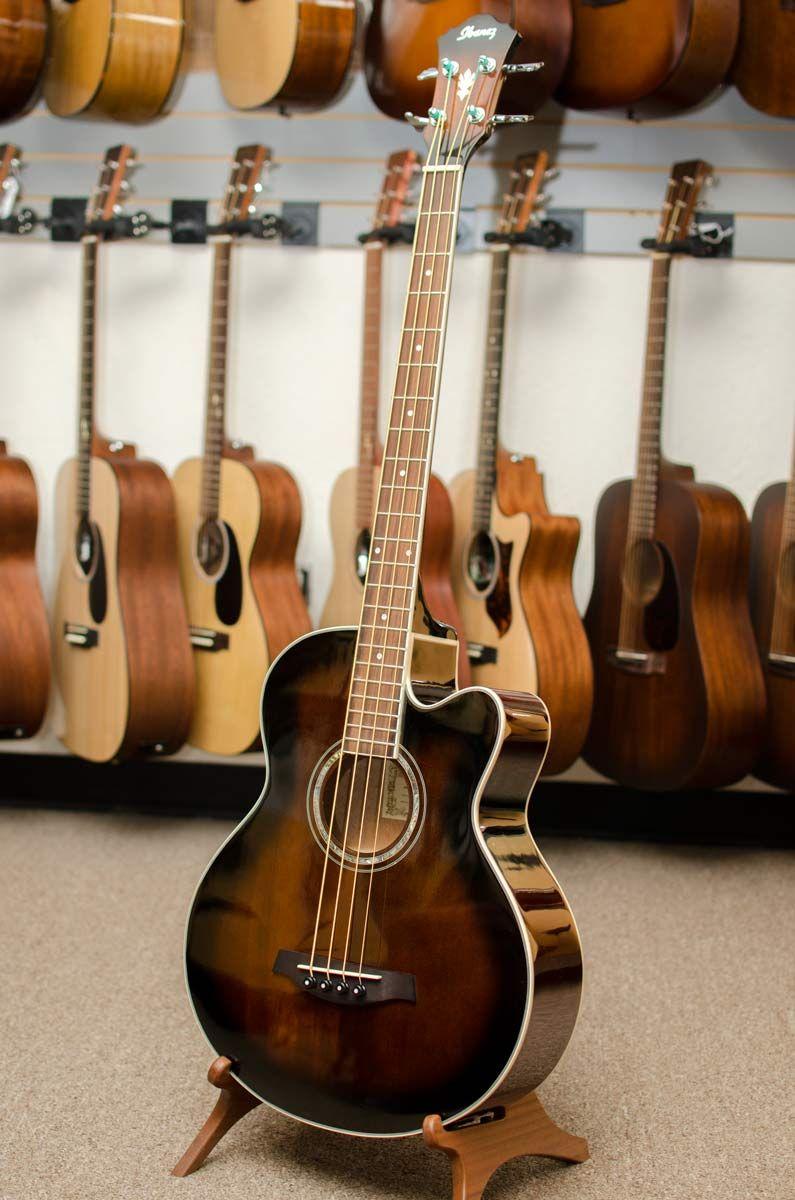 Ibanez Aeb10e Acoustic Electric Bass Dark Violin Sunburst Http Bananas Com Ibanez Aeb10e Acoustic Electr Ibanez Guitars Ibanez Acoustic Guitar Electric Bass