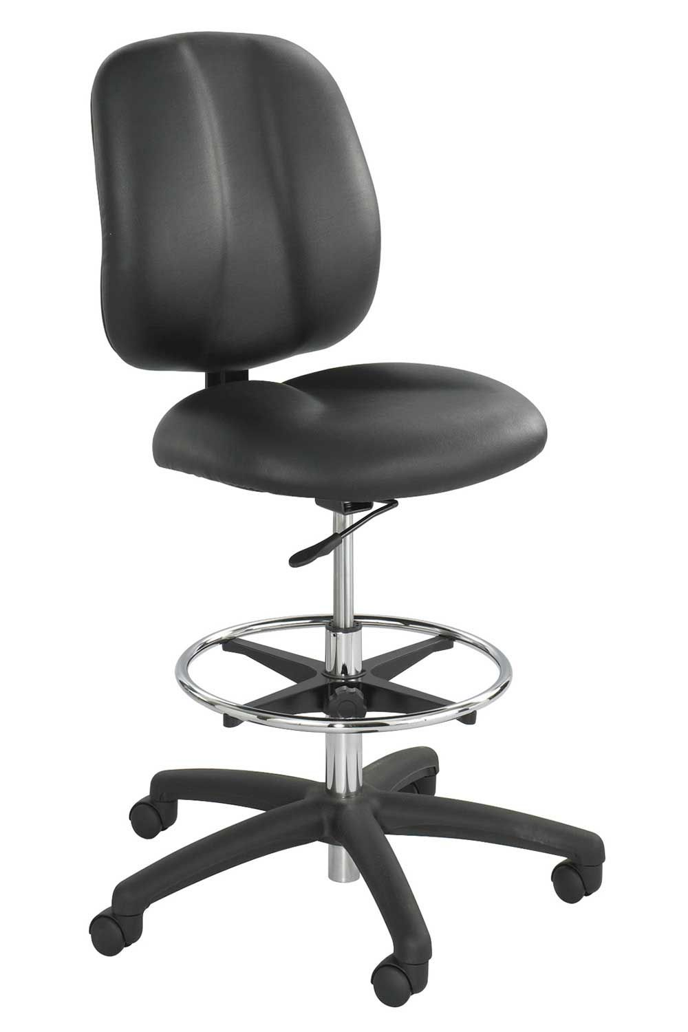 Safco Apprentice Black Contoured Tall Vinyl Office Chairs Office