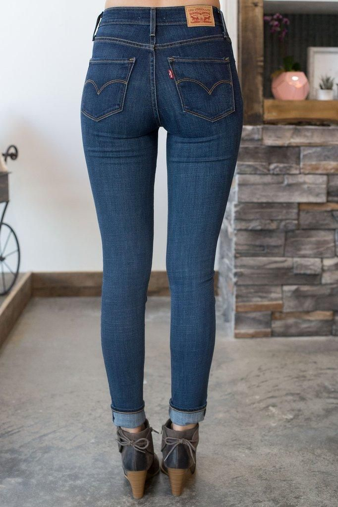 Dark Blue Jeans Womens