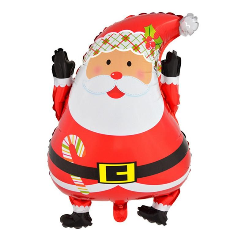 Large Merry Christmas Santa Claus Aluminum Large Foil Balloon Party Xmas Decor