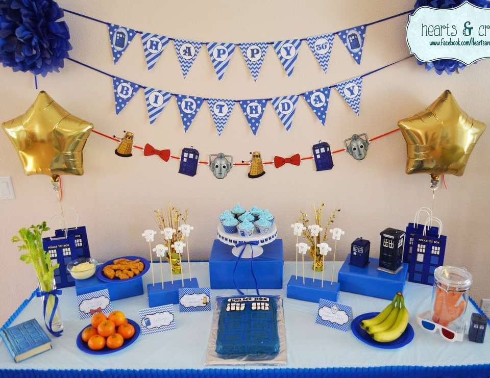 Doctor Who Birthday Doctor Who 30th Birthday Catch My Party Doctor Who Party Doctor Who Birthday Doctor Who Valentines