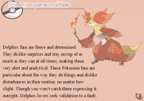 Pokemon Personalities: Delphox