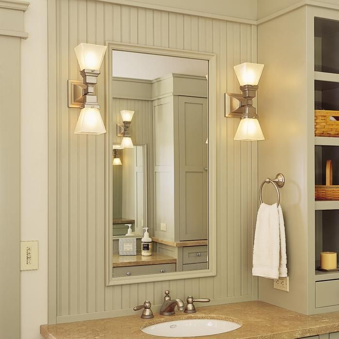 Oak Park™ Two Light Linear Sconces Light Bathroom Vanity  Brass Custom Wall Sconces Bathroom Inspiration Design