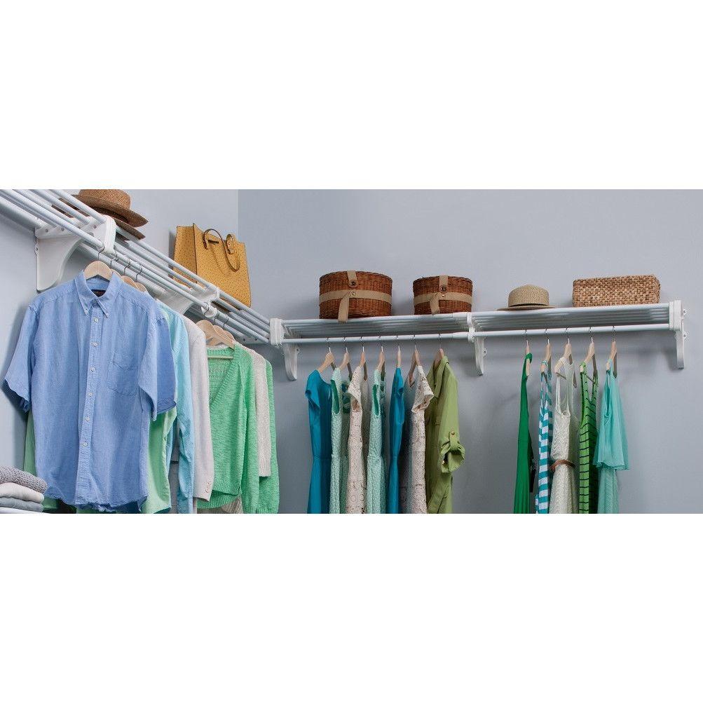 EZ Shelf From Tube Technology Expandable Closet Kit   2 Closet Shelves U0026ampu2026