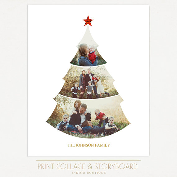 Christmas Tree Collage Template 16x20 Print Template Blog Board