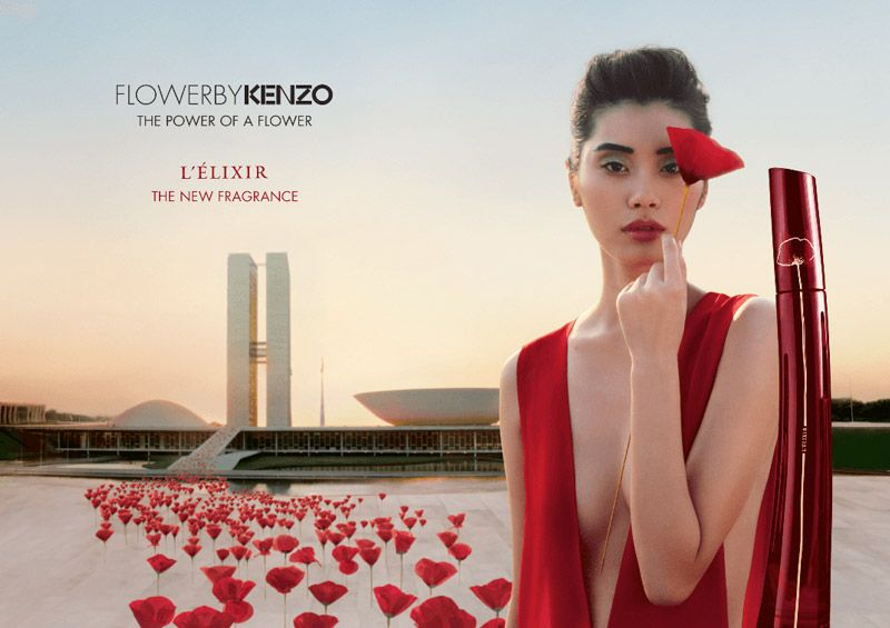Ming Xi Stars In New Kenzo Flower Lelixir Campaign Fashion World