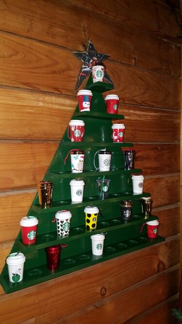 Starbucks Christmas Ornaments 2019.Christmas Tree Starbucks Ornament Cup Holder It Can Hold Up