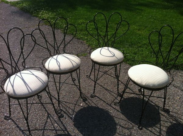 shell-back ice cream parlor chairs