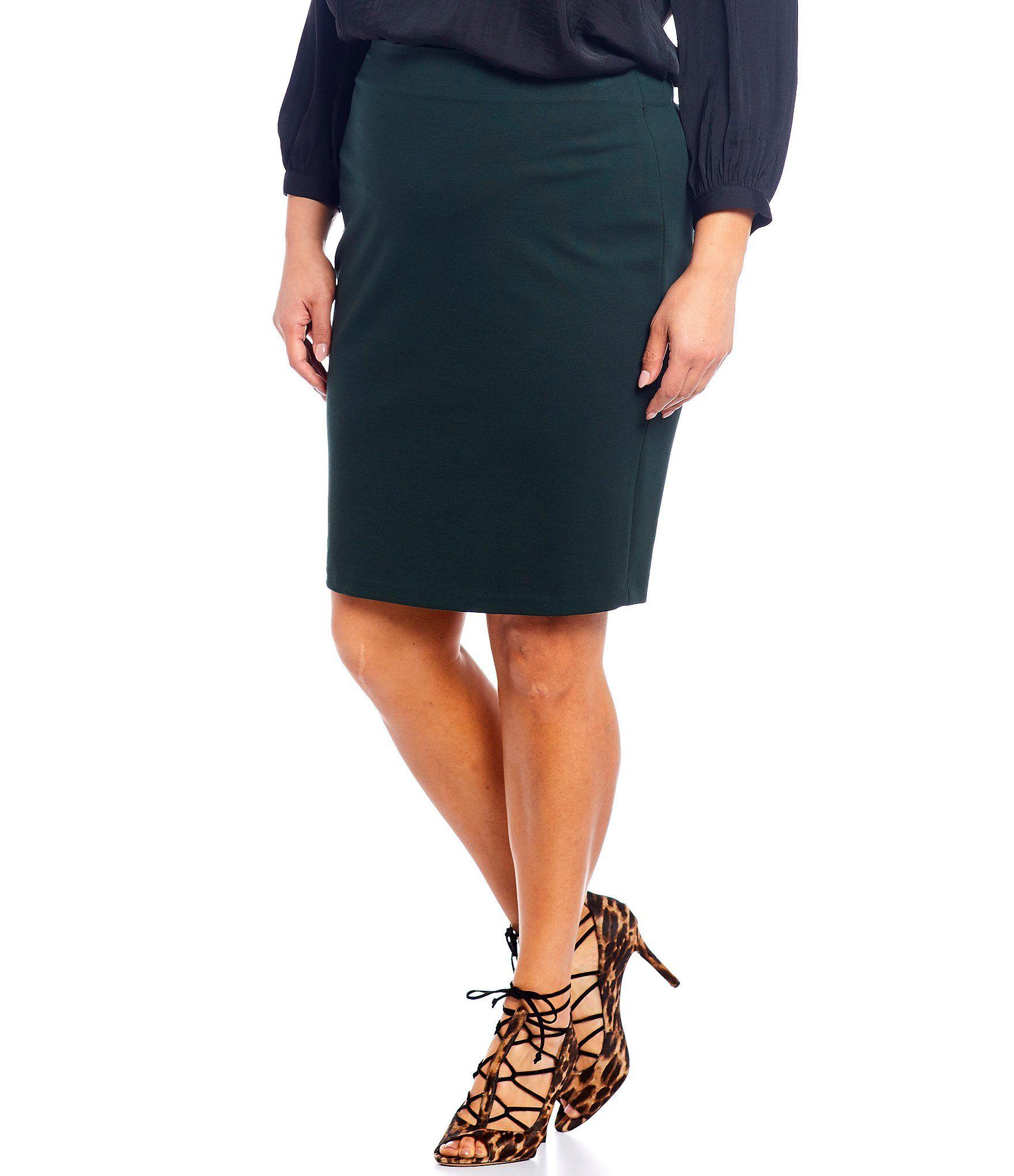 Vince Camuto Plus Ponte Skirt -  2X