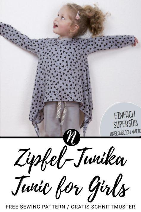 Zipfeltunika für Mädchen - Freebook | Drucken, Girls und Mädchen