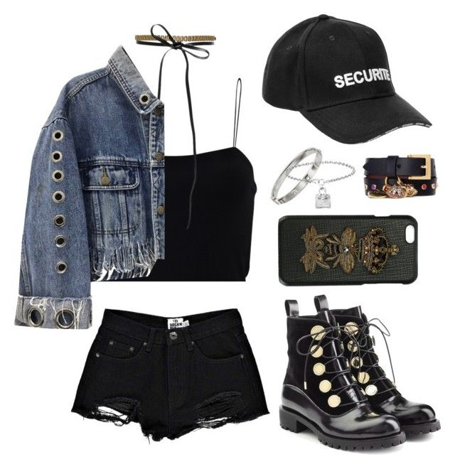 """""""Untitled #303"""" by gr20gk on Polyvore featuring Boohoo, T By Alexander Wang, Vetements, Fallon, Alexander McQueen, Shay and Dolce&Gabbana"""