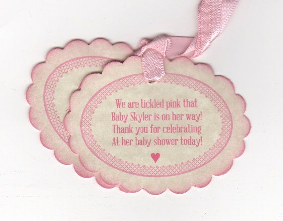 baby shower tags baby girl nail polish favor used this, Baby shower invitation