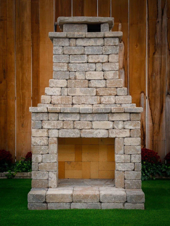 Diy Outdoor Fireplace Kit Fremont Makes Hardscaping Cheap And Easy Diy Outdoor Fireplace Fireplace Kits Outdoor Fireplace Kits