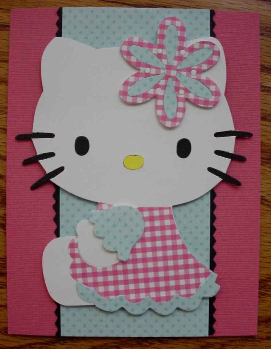 Cricut Hello Kitty Card Cards Animals Critters Pinterest
