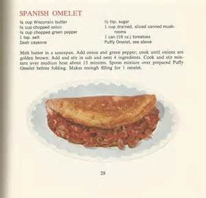 Spanish Omelet   Vintage Recipes:1964 Cheese and Eggs   Posted by Marie on February 13, 2015